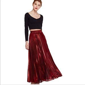 9eef24f3a Dresses & Skirts - Women's Metallic Shiny Pleated Accordion skirt.